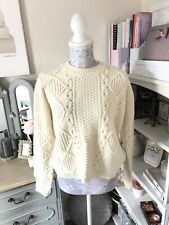 Topshop Ivory Chunky Cable Knit Angora Mix Jumper Size 10
