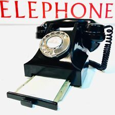 Vintage Bakelite Telephone 1955 GPO Model 332 With Drawer, Very Clean, Converted