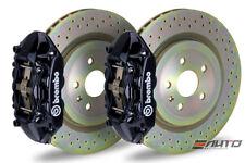 Brembo REAR GT Big Brake BBK 4piston Black 365x28 Drill Disc Camaro V6 10-14