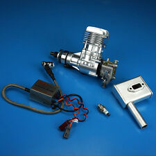 InUS CHI Stock DLE20 Engine W/Electronic Igniton & Muffler For 20CC for RC Model