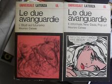 Calvesi LE DUE AVANGUARDIE futurismo informale new dada pop art 2 vol. 1971