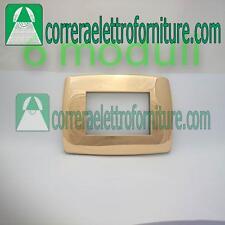 LEGRAND VELA placca tonda 6 moduli oro lucido 685837