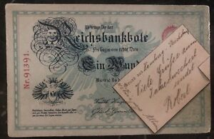1899 Hamburg Germany Postcard Cover Domestic Used Reich Bank Note