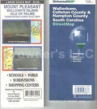 Vintage Maps: UniversalMap Walterboro, Collenton County & Mount Pleasant Map