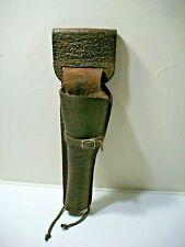 Vintage  Brown Leather Revolver Holster