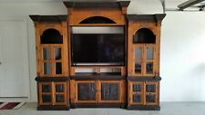 TV Entertainment Center Solid Wood Media Wall Unit Cabinet Storage