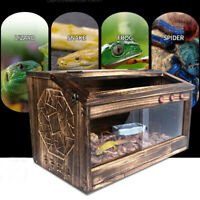 60x40x40cm Large Wooden Reptiles Tank Vivarium Snake Insect Spider House Cage ❤