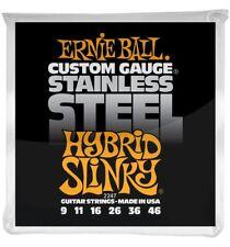 Ernie Ball 2247 - Jeu de cordes guitare électrique - Stainless Steel - Hybrid S