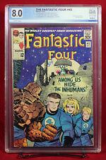 FANTASTIC FOUR #45 (Marvel 1965) PGX 8.0 VF Very Fine - FIRST INHUMANS!!! +CGC!!