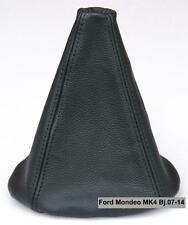 FORD MONDEO MK4 Bj.07-14 Schaltsack Schaltmanschette aus Echtes Leder Schwarz