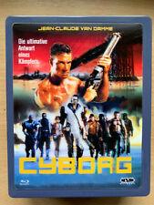 Cyborg Blu-ray 1989 Cannon Sci-Fi Action Classic German Metal Lenticular Tin
