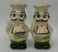 Vintage Hong Kong Chubby Italian Chef Salt and Pepper Shaker Set