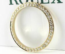 Custom Diamond Gold Bezel Rolex Datejust 26mm w/ 42 Natural Real Diamonds .75CT