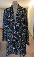 Swish Coat, Black & White, Size 14, New