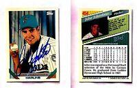 John Johnstone Signed 1993 Topps #454 Card Florida Marlins Auto Autograph