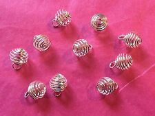 Tibetan Silver Spiral Bead Cage/Frame 10 per pack