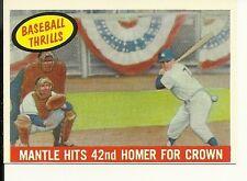 1959 Topps  #461  Mantle Hits 42nd HR EX-MT Set Break