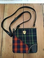 Mac Make Up Tartan Cross Body Bag Studded Studio Bag