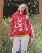 Sirdar Country Style DK- Pattern No. 9754 - Snowflake Sweater