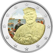 2 Euro Gedenkmünze San Marino 2007 coloriert / Farbe - Farbmünze Garibaldi