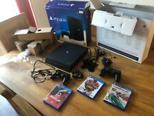 Sony Playstation 4 Pro 1TB Game Console - Black.  with 3 games and 2 controllers