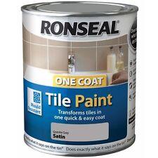 Ronseal One Coat Tile Paint Satin 750Ml Kitchen Bathroom Tile Paint 5 Colour's