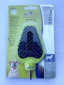 FURMINATOR FURFLEX DOG GROOMING DUAL BRUSH FOR ALL DOGS SHORT SILKY HAIR