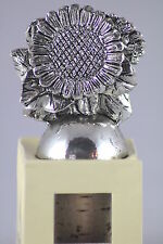 Pewter Sunflowers Bottle Stopper, a Lovely & Useful Gift for Drink & Wine Lovers