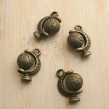 4pcs antiqued bronze Globe design pendant charm G591