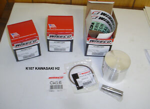WISECO 759cc BIG BORE PISTON KIT K105 MACH IV H2 750 TRIPLE KAWASAKI DRAGBIKE