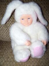 """8"""" Anne Geddes White Bunny Rabbit Plush Gc"""