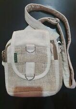 Hemp Bag Shoulder Strap Messenger Pouch Camera Travel Bag Hippie Festival Beige