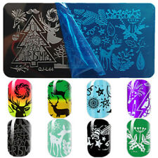 Christmas Style 12x6cm Stainless Steel Nail Art Image Stamp Stamping Plate  L-44