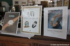 TRE PUBBLICITA' CARTACEA VINTAGE OROLOGI UTI DOXA GIRARD PERREGAUX - ADVERTISING