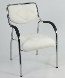 1 Stuhl Chrom Designer PU Leder stapelbar Kinderstuhl Sitzhöhe 40cm Stapelstuhl