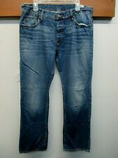 EUC Men's G-Star Raw 3301 Cotton Blend Button Fly Boot Cut Jeans Size 36 Blue