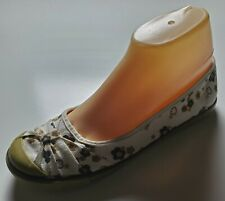 BAMBOO Beige, White, Tan, Navy Flower Fabric Ballet flat Loafer Shoes Sz 8