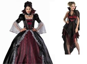 Halloween Womens Vampires Costume Adult S M UK Seller