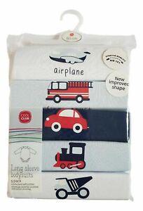 Baby Boys 5 Pack Transport Cotton Bodysuit Vest Top NB 1 3 6 9 12 18 24  RRP £14