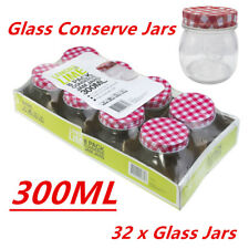 Bulk 300ml Glass Conserve Preserving Screw Top Jam Jars Lid Lolly Candy Jar WMCV