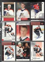 9 Jay Bouwmeester Hockey Cards 2002-03 Upper Deck - Rookies 2 signed, 1 jersey