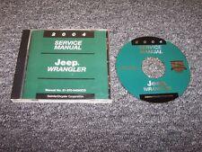 2004 Jeep Wrangler Shop Service Repair Manual DVD SE X Sport Sahara Rubicon