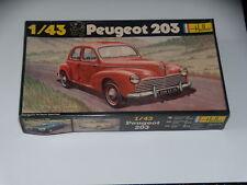 MAQUETTE- PEUGEOT 203 - HELLER -  1/43 - N° 160 - VINTAGE