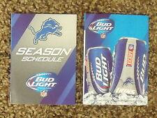 2014 Detroit Lions (NFL) Bud Light team logo cover football pocket schedule