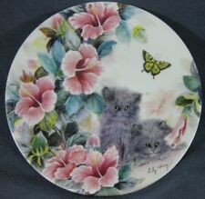 Summer Surprise Lily Chang Petal Pals Kittens Flowers WS George Collector Plate