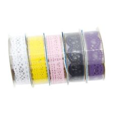 AKORD Decorative Sticky Adhesive Lace Tape for Diy Craft, Vinyl, Multi-Colour...