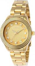 Invicta 22882 Textured Bezel Angel Quartz Stainless Steel Bracelet Women's Watch