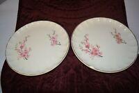 WS George Bolero Peach Blossom Set of 2 Dessert Plates Gold Trim Antique Gold