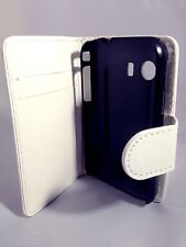 WHITE WALLET Leather Case Card Slots Phone Cover Samsung Galaxy Young GT-S5360