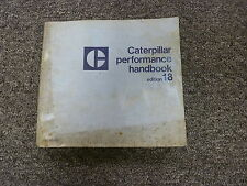 1988 Caterpillar Cat Performance Estimating Time Schedule Manual Book Edition 18